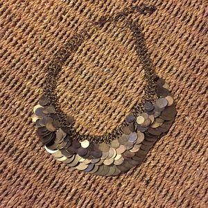 Anthropologie circular disk layered necklace